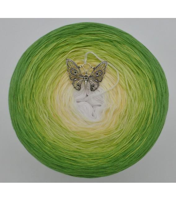Farbverlaufsgarn 4-fädig April Bobbel - Froschgrün aussen 2