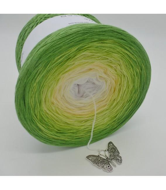 Farbverlaufsgarn 4-fädig April Bobbel - Froschgrün aussen 3