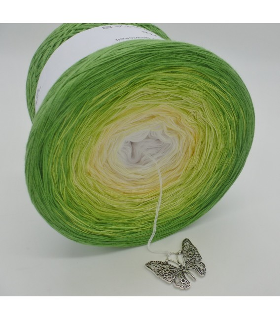 gradient yarn 4ply April Bobbel - frog green outside 3