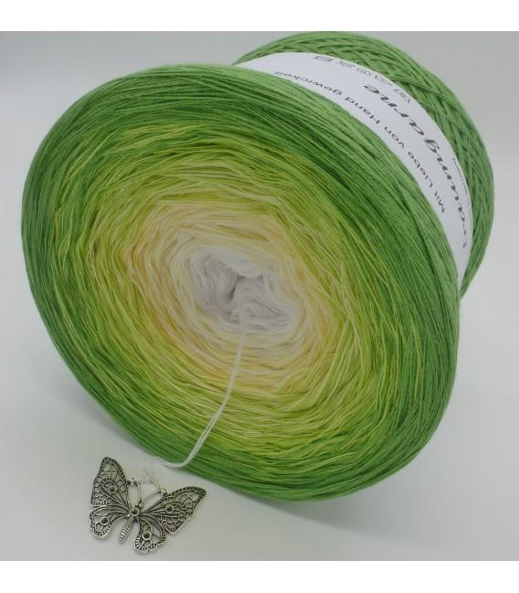 Farbverlaufsgarn 4-fädig April Bobbel - Froschgrün aussen 4