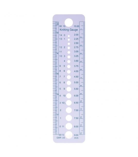 Needle gauge for knitting needles - image 1