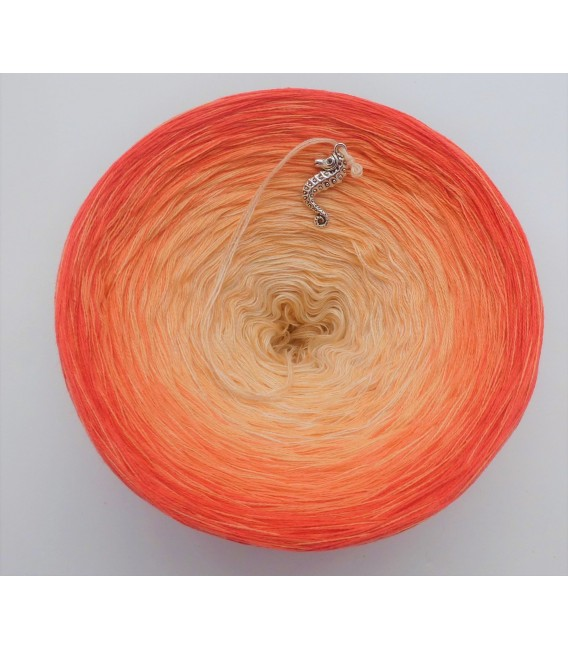 Zuckermelone - Farbverlaufsgarn 4-fädig - Bild 5