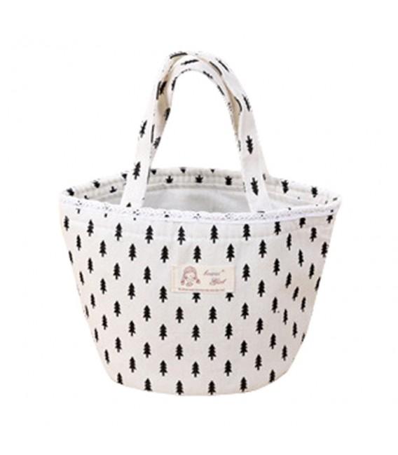 Utensilo - Bobbel bag round Drawstring white - pattern black - image 2