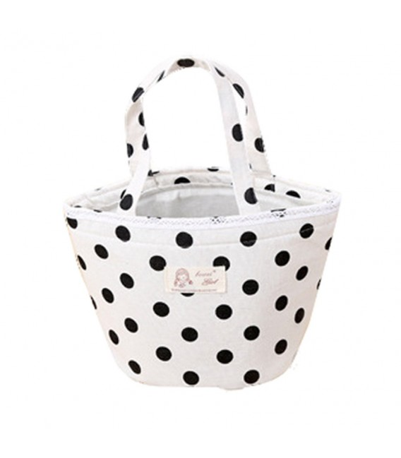 Utensilo - Bobbel bag round Drawstring white - pattern black - image 4