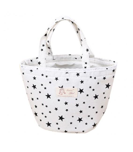 Utensilo - Bobbel bag round Drawstring white - pattern black - image 5