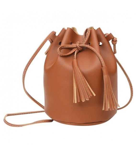 Utensilo - round Bobbel bag - shoulder bag - imitation leather - image 5