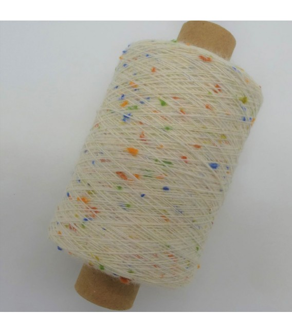 Auxiliary yarn - Cream with colorful knobs - image 2