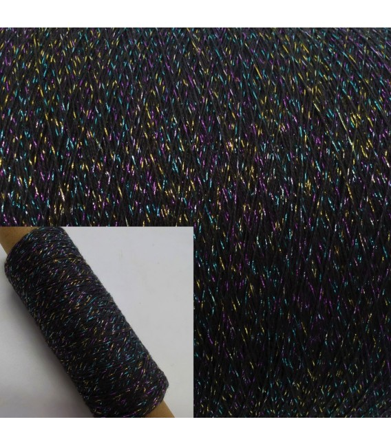 Auxiliary yarn - glitter yarn anthracite-multicolor - image 1