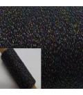 Beilaufgarn - Glitzerfaden Anthrazit-Multicolor