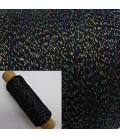Beilaufgarn - Glitzerfaden Schwarz-Multicolor