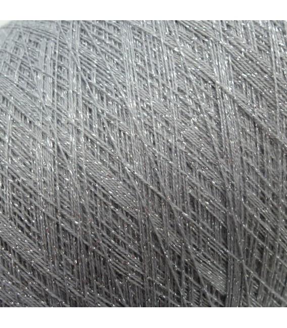 Auxiliary yarn - glitter yarn stone-silver - image 3
