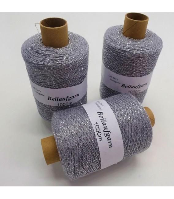 Glitter yarn - glitter thread Stein-Silber - pack