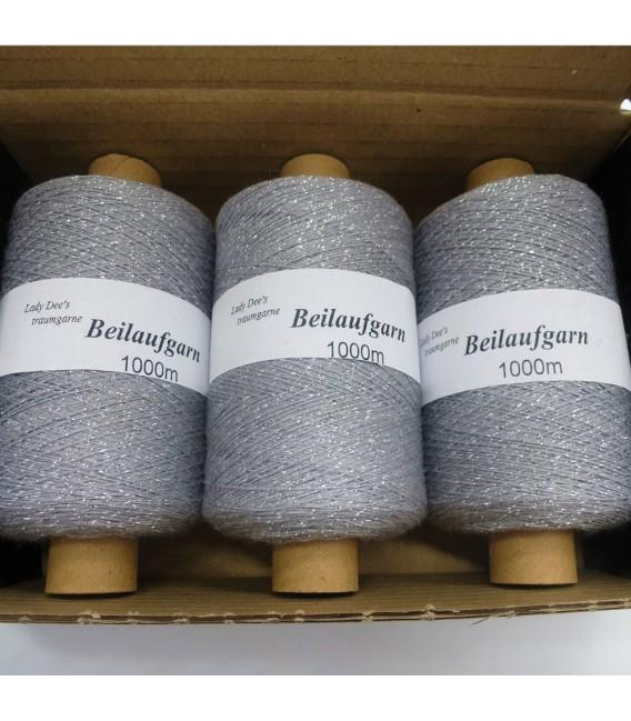 Fil scintillant - fil de paillettes Stein-Silber - pack