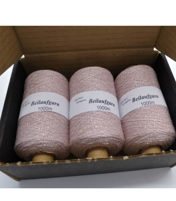 Glitter yarn - glitter thread Flieder-Silber - pack