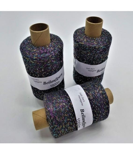 Fil scintillant - fil de paillettes Anthrazit-Multicolor - pack