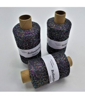 Glitter yarn - glitter thread Anthrazit-Multicolor - pack
