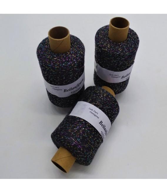 Beilaufgarn - Glitzerfaden Anthrazit-Multicolor - Packung