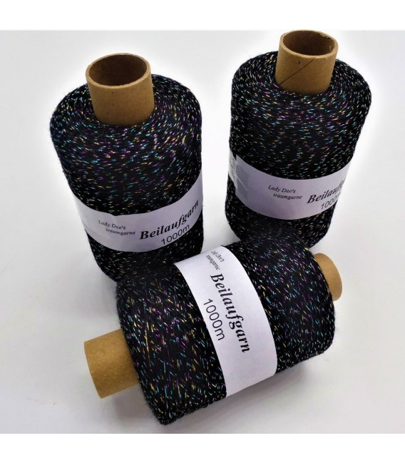 Glitter yarn - glitter thread Schwarz-Multicolor - pack