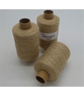 Glitter yarn - glitter thread Beige-Gold - pack