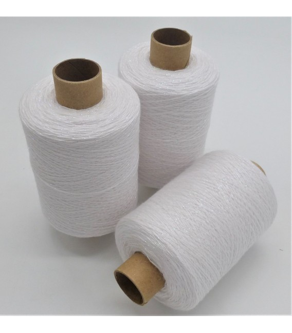 Fil scintillant - fil de paillettes Weiß-Perlmutt iriseé - pack