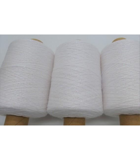 Beilaufgarn - Glitzerfaden Weiß-Perlmutt iriseé - Packung
