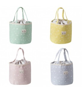 Utensilo - Bobbel bag retro round with drawstring - speckled