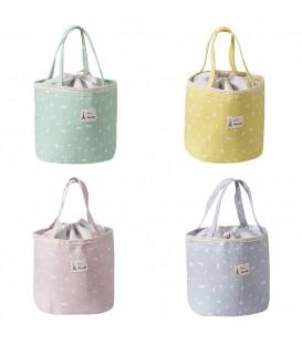 Utensilo - сумка Bobbel в стиле ретро, круглая, на шнуровке - крапчатый