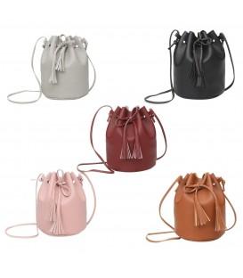 Utensilo - round Bobbel bag - shoulder bag - imitation leather - image 1