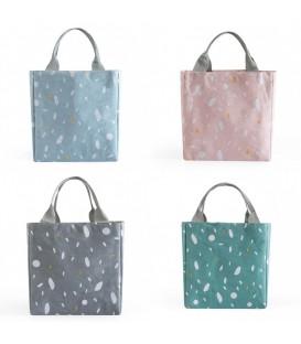 Utensilo - сумка Bobbel в стиле ретро, угловатый, на шнуровке - крапчатый - Фото 1