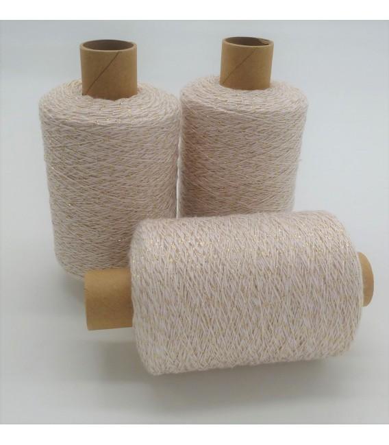 Glitter yarn - glitter thread Rosé-Gold - pack