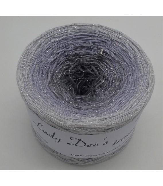 Silbermond mit Glitzer - Farbverlaufsgarn 3-fädig - Bild 2