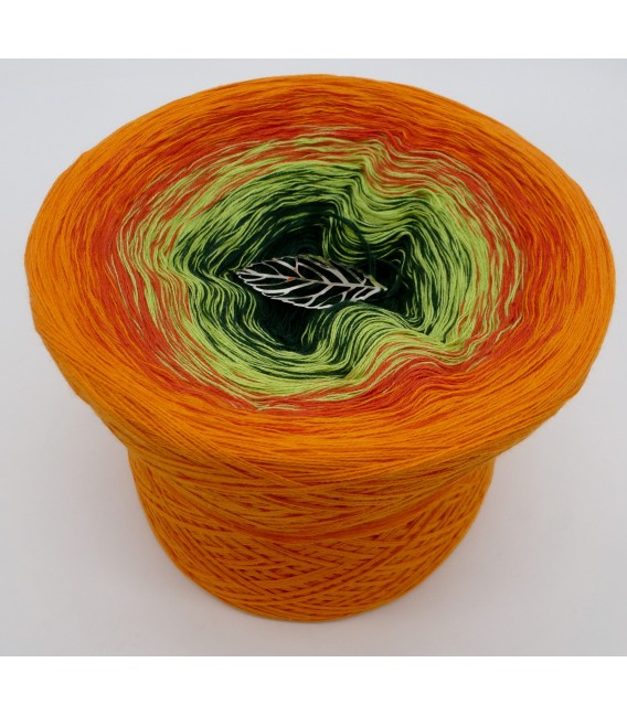 gradient yarn 4ply Goldener Herbst - Orange outside