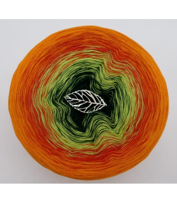 Farbverlaufsgarn 4-fädig Goldener Herbst - Orange aussen 2