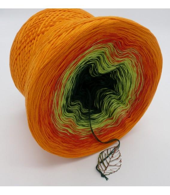 Farbverlaufsgarn 4-fädig Goldener Herbst - Orange aussen 3