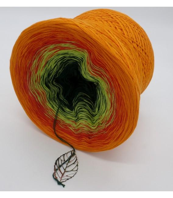 Farbverlaufsgarn 4-fädig Goldener Herbst - Orange aussen 4