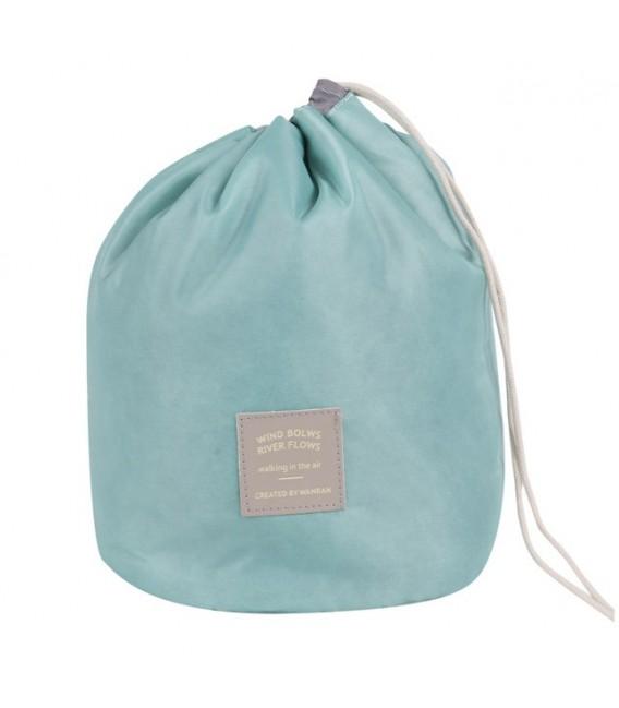 Организатор - круглый ретро сумка Bobbel с шнурком - один цвет - Фото 2