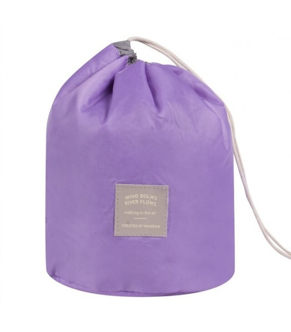 Организатор - круглый ретро сумка Bobbel с шнурком - один цвет - Фото 3