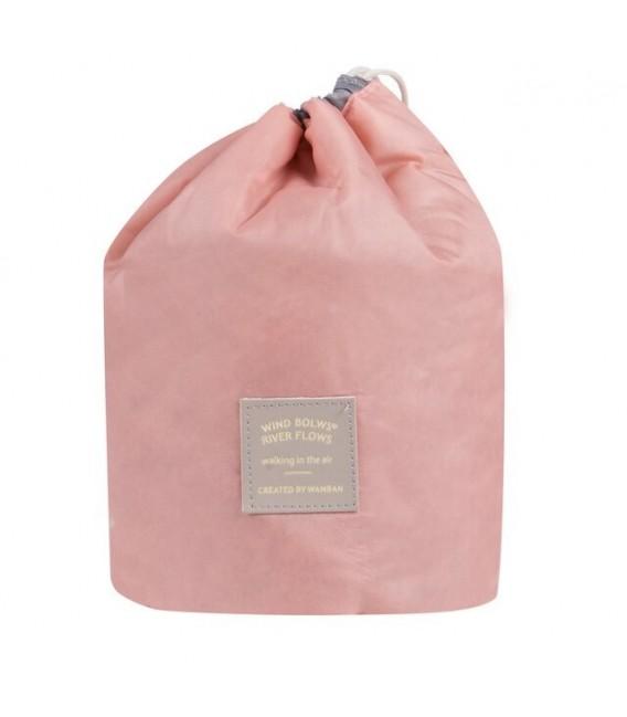 Организатор - круглый ретро сумка Bobbel с шнурком - один цвет - Фото 4