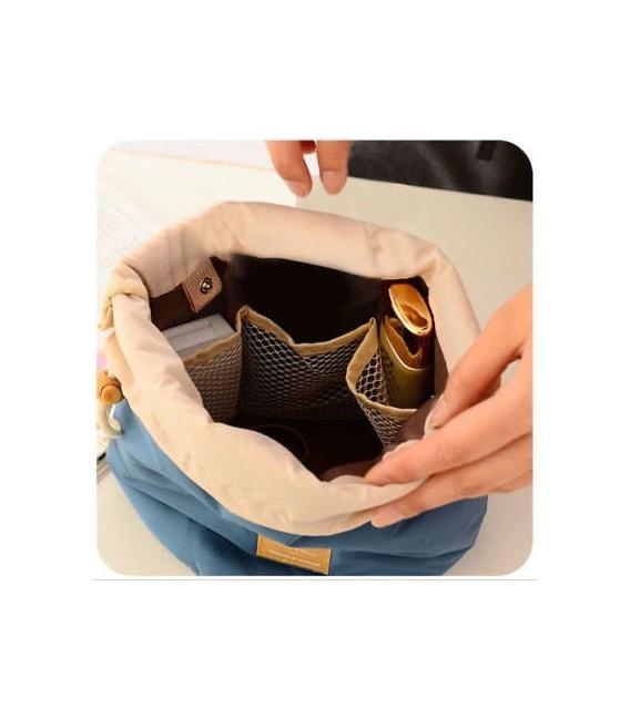 Организатор - круглый ретро сумка Bobbel с шнурком - один цвет - Фото 8