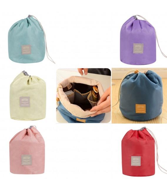 Организатор - круглый ретро сумка Bobbel с шнурком - один цвет - Фото 1