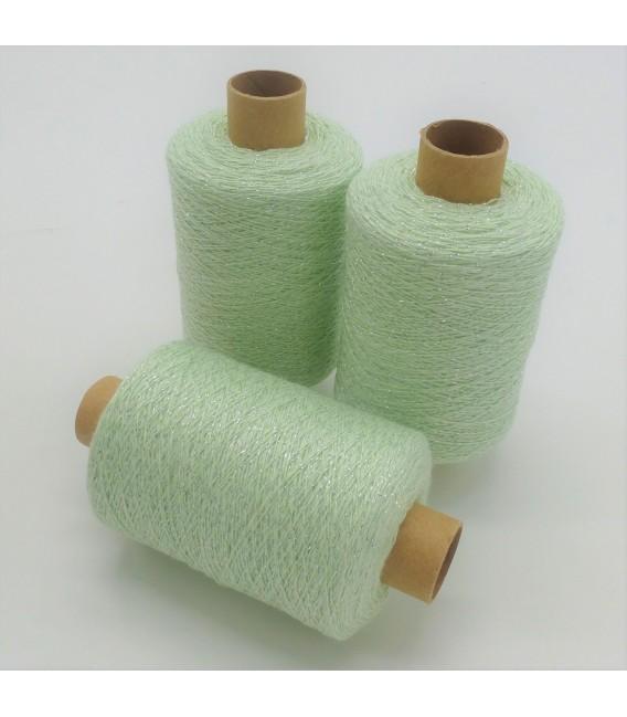 Glitter yarn - glitter thread Mint-Silber - pack