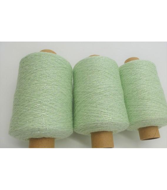Fil scintillant - fil de paillettes Mint-Silber - pack