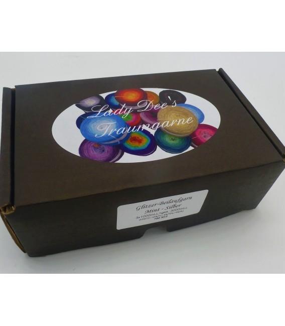 Beilaufgarn - Glitzerfaden Mint-Silber - Packung