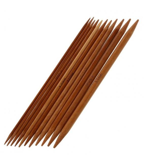 ensemble d'aiguilles à tricoter en bambou de 11 pièces - Photo 1