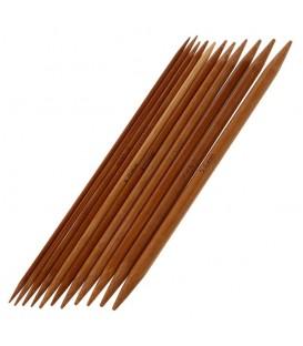 11-piece bamboo knitting needle set - image 1