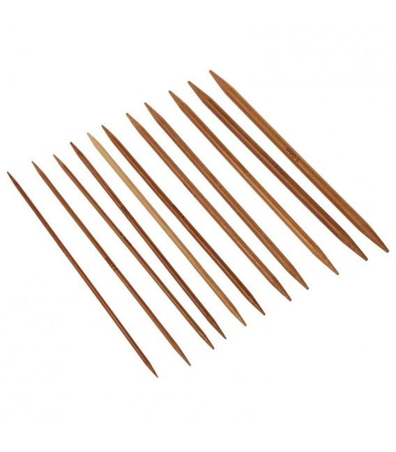 11-piece bamboo knitting needle set - image 2