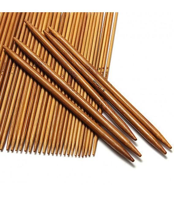 11-piece bamboo knitting needle set - image 3