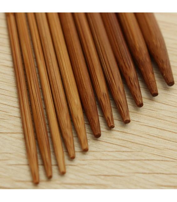 11-piece bamboo knitting needle set - image 5