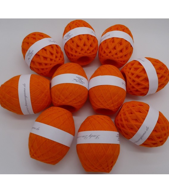 1kg High bulk acrylic yarn - Blood orange - 10 balls - image 1