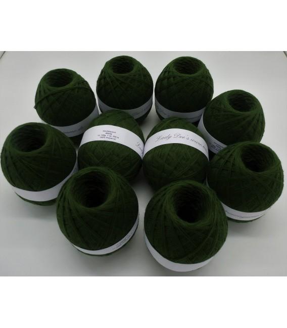 1kg Hochbausch Acrylgarn - Tannengrün - 10 Knäule - Bild 1